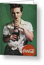 Just Like Old Times - Coca-cola Greeting Card