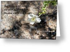 Just Living Greeting Card