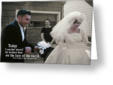 Just Married Today Quote Greeting Card