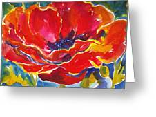 Just One Poppy  Sold Greeting Card
