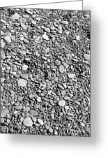 Just Rocks - Black And White Greeting Card
