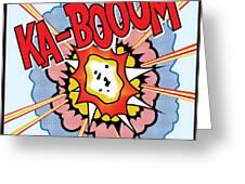 Ka-booom Greeting Card