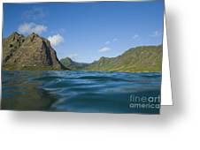 Kaaawa Valley From Ocean Greeting Card