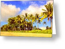 Kaanapali Beach Maui Greeting Card