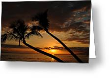 Ka'anapali Beach Sunset Greeting Card by Kelly Wade