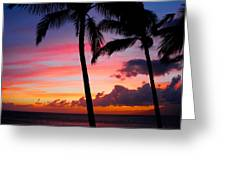Kaanapali Sunset  Kaanapali  Maui Hawaii Greeting Card