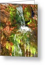 Waterfall Of Love Greeting Card