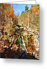 Flows Down The Cliff Greeting Card