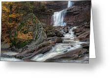 Kaaterskill Falls Autumn Square Greeting Card