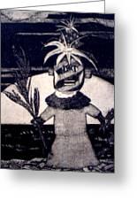 Kachina Goes Hawaiian Greeting Card