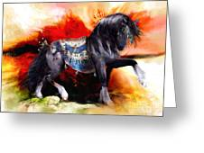 Kachina Hopi Spirit Horse  Greeting Card