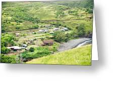 Kahakuloa Village Maui Hawaii Greeting Card