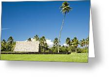 Kahanu Garden Hana Maui Hawaii Greeting Card