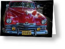 Kaiser Virginian Deluxe - 1949 Convertible Greeting Card