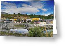 Kaitoura Nz Panorama Greeting Card