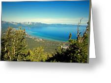 Lake Tahoe From The Top Of Heavenly Gondola Greeting Card