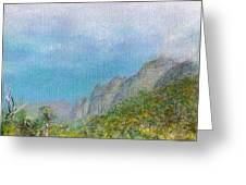 Kalalau Mist Greeting Card
