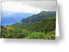 Kalalau Trail Overlook Greeting Card
