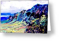 Kalalau Valley 4 Greeting Card