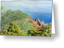 Kalalau View Greeting Card