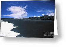 Kalapana Black Sand Greeting Card