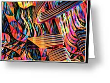 kaleido Calligraph 10x11m3n27m5aa Greeting Card
