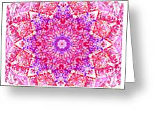 Kaleido Red Rubi 8 Greeting Card