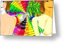 Kaleidoscope Girl Greeting Card