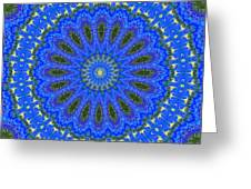 Kaleidoscope Iris Three Greeting Card