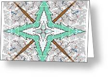 Kaleidoscope Of Winter Trees Greeting Card