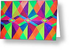 Kaleidoscope Wise Greeting Card by Ann Sokolovich