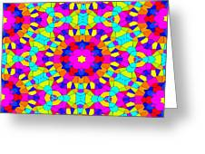 Kaleidoscopic Mosaic Greeting Card