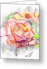 Kaleidoscopic Rose Greeting Card