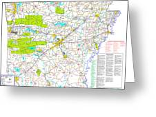 Kamkam Arkansas Highway Map  Greeting Card