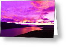 Kamloops Lake At Dawn Greeting Card