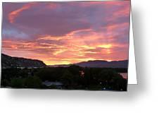 Kamloops Sunset 2 Greeting Card