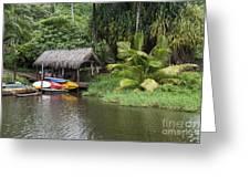 Kamokila Hawaiian Village - Kauai Greeting Card