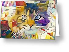 Kandinsky Cat Greeting Card
