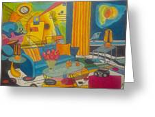 Kandinsky Living Room Greeting Card