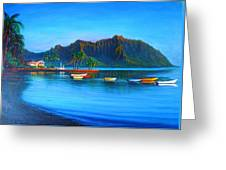 Kaneohe Bay - Early Morning Glass Greeting Card by Joseph   Ruff