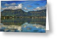Kaneohe Bay Oahu Hawaii Greeting Card