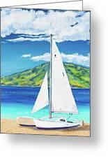 Kanoa At Kaanapali Beach Maui Greeting Card