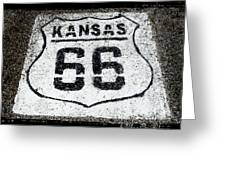 Kansas 66 Greeting Card