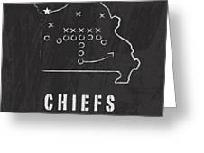 Kansas City Chiefs Art - Nfl Football Wall Print Greeting Card by Damon Gray
