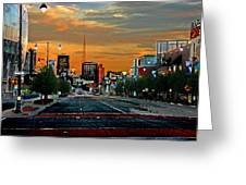 Kansas City Evening Greeting Card