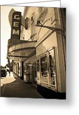 Kansas City - Gem Theater Sepia 2 Greeting Card