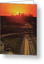 Kansas City I 70 Sunset Greeting Card