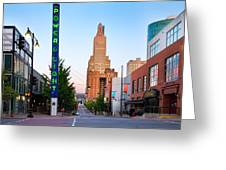 Kansas City Power And Light District Greeting Card