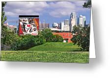 Kansas City Sky Line Greeting Card