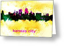 Kansas City Skyline 1 Greeting Card